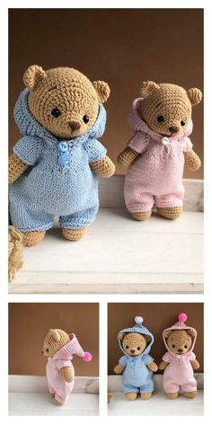 Crochet amigurumi 385480049357969549 - Source by saltei Teddy Bear Patterns Free, Crochet Bear Patterns, Doll Patterns Free, Free Pattern, Clothes Patterns, Crochet Patterns Amigurumi, Amigurumi Doll, Crochet Dolls, Crochet Easter