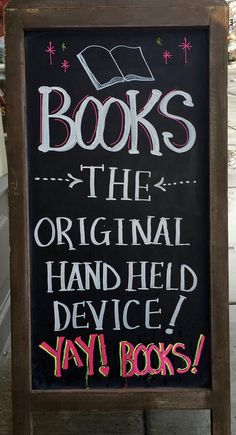 Books - the original handheld device | Out West Books, Grand Junction, CO