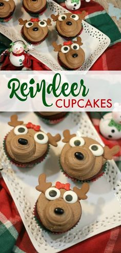 Reindeer Cupcake Recipe! A FUN Christmas Dessert and treat for Kids and Adults! Take these to your next holiday party!