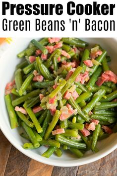 Ninja Foodi green beans and bacon has never been easier to make! Steaming vegetables is the best way to maintain vitamins and color. Try it this week. Ninja Foodi green beans and bacon is the perfect quick and easy side dish. Cooked perfectly every time in just 2 minutes you'll be able to cook fresh …
