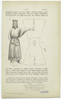 Tunics As Worn By Philippe-Auguste ; Pattern Of Same, French, Late 12th Cent. Date Issued: 1858 - 1875