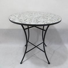 Mosaic Tile Bistro Table in Grey