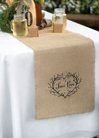 True Love Burlap Table Runner, Style DBK31305 #davidsbridal #rusticweddings