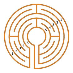 how to draw a classical labyrinth