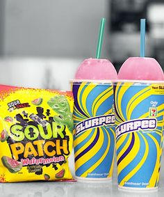 It's July also known as free slurpee day at But Slurpees are far from the only tasty vegan treat at this popular convenience store—the chain offers a ton of vegan snacks that are perfect when you're short on time or on the road. Vegan Treats, Vegan Snacks, Slurpee Flavors, 7 Eleven Slurpee, Fun Drinks, Alcoholic Drinks, Beverages, Free Slurpee Day, Sour Patch Watermelon