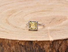 Lemon Quartz  Silver Ring 925 Silver, Silver Rings, Lemon Quartz, Stud Earrings, Gemstones, Jewellery, Handmade, Accessories, Jewels