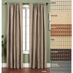 Softline Jaipur Circle Rod Pocket 108-inch Curtain Panel (Soft Gold), Size 53 x 108 (Polyester, Geometric)