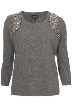 Topshop Embellished Harness Sweater, simple and pretty! Topshop, Diy Fashion, Fashion Outfits, Womens Fashion, Pijamas Women, Refashioning, Sweater Fashion, Pulls, Diy Clothes