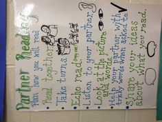 Partner reading anchor chart I made for one of the teachers.