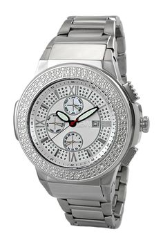 JBW | Men's Saxon Metal Diamond Watch | HauteLook