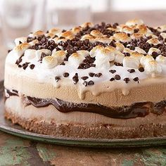 Grown up S'mores Torte