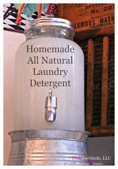 DIY Homemade All Natural Laundry Detergent Using Essential Oils by coconutheadsurvivalguide.com