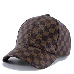 huge discount ea291 24bfe Europe America Contracted Leather Baseball Cap Spring Summer Brand Snapback  Grid Peaked Hats For Women And men Casquette 54-60CM  orc32875082029  -   28.40   ...