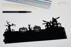 "Halloween Decor - Bastelbogen Windlicht ""Halloween"" - a designer piece of Miss Kitty's at about"