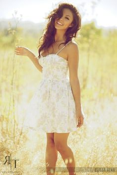 NEED THIS for my engagement photos in May. white lace sun dress