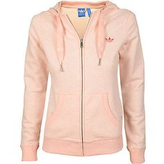 Adidas Slim Zip Graphic Hoodie Womens S19746 Light Blush Mel Pink Hoody Size M