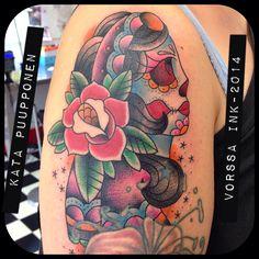 https://www.facebook.com/VorssaInk, http://tattoosbykata.blogspot.fi, #tattoo #tatuointi #katapuupponen #vorssaink #forssa #finland #traditionaltattoo #suomi #oldschool #pinup #gypsy #rose