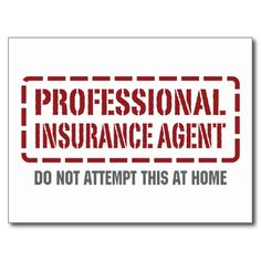 Professional Insurance Agent Post Cards
