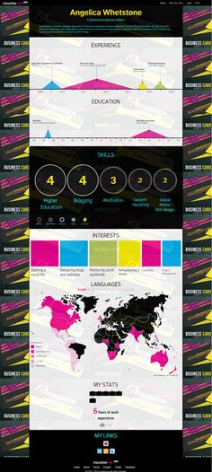 1223 Best Infographic Visual Resumes Images Infographic Resume Cv