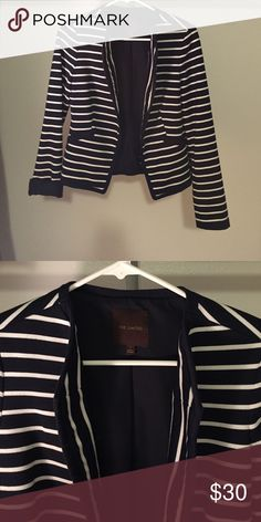 The Limited stripped blazer The Limited navy and white stripped blazer The Limited Jackets & Coats Blazers