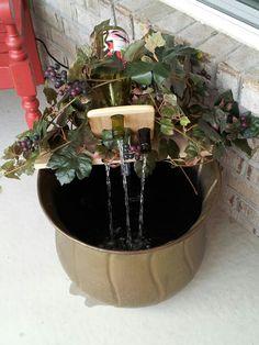 Wine bottle fountain for my dsughter - Modern