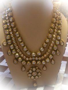 Polki diamond string with earrings. Available @sitara_by_shalinibakliwal