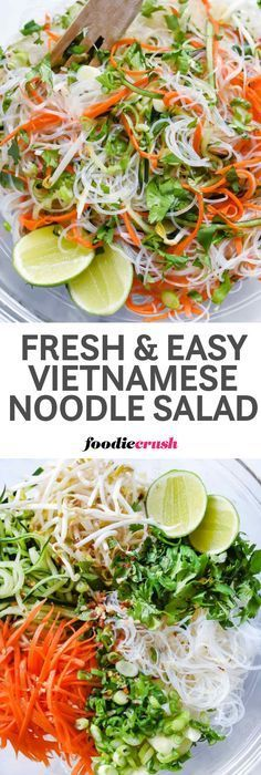 Lower Excess Fat Rooster Recipes That Basically Prime Fresh And Easy Vietnamese Noodle Salad Recipe Spring Rolls Salad Recipe Rice Noodle Salad Recipe Vermicelli Noodle Recipe Vermicelli Recipes, Vermicelli Noodles, Fruit Salad Recipes, Chicken Salad Recipes, Zoodle Recipes, Vegetarian Recipes, Cooking Recipes, Healthy Recipes, Gastronomia