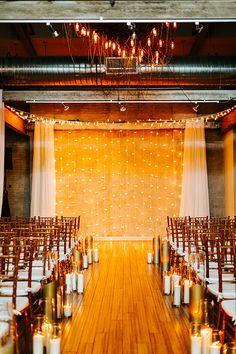 modern wedding aisle
