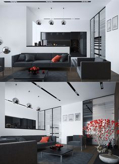 Red and Black Living Room Decor. 20 Red and Black Living Room Decor. Red Living Room Decor, Manly Living Room, Interior Design Living Room, Living Room Designs, Interior Modern, Modern Interiors, Living Room Modern, Home Living Room, Small Living