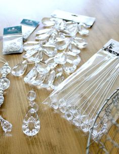 DIY Chandelier Tutorial - All For Decoration Diy Drum Shade, Drum Shade Chandelier, How To Make A Chandelier, Chandelier Makeover, Chandelier Lighting, Chandelier Crystals, Plastic Chandelier, Chandelier Ideas, Chandeliers
