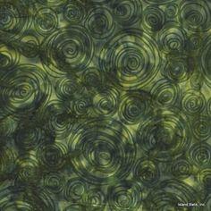 Island Batik Hand Printed Cotton - Amazon Jungle SP12-D2