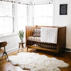 Brought to you in collaboration with Pottery Barn Kids, our GREENGUARD-certified Mid-Century Nursery Collection combines timeless style with durable craftsmanship. Each piece is made in a Fair Trade Certified™ facility from sustainably-sourc… Nursery Furniture, Nursery Room, Nursery Decor, Nursery Ideas, Wood Nursery, Room Ideas, Baby Boy Rooms, Baby Cribs, Baby Room