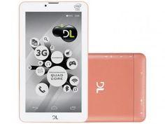 "Tablet DL Tecphone 610 8GB 7"" 3G Wi-Fi - Android 5.1 Proc. Intel Quad Core Câmera Integrada"