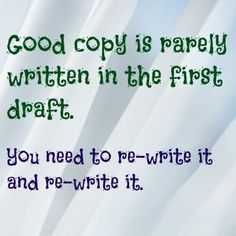 Check out this writing tip.  Why not check out my website too? http://caroleseawert.co.uk