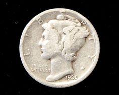 1936 Good or Better Mercury Dime! 90% Silver!  . Starting at $1