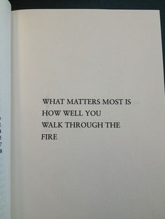 what matters....