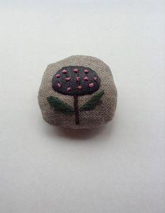 hanatama brooch Tomoko Taka www.ateliertaffeta.com