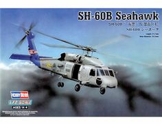 The Hobby Boss 1/72 SH-60B Seahawk plastic aircraft model accurately recreates the real life helicopter used by the US Navy.  This plastic aircraft kit requires paint and glue to complete.