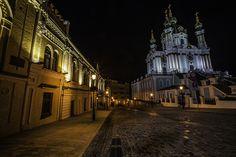 Andreevsky Spusk oldest streets Kiev cityscape, via Flickr.