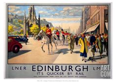 Art.fr - Giclée 'LNER Edinburgh'