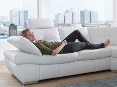 Etonnant Salzburg Leather Sectional Sofa Sleeper By Nordholtz White Sectional, White  Sofas, Leather Sectional Sofas