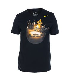 368fe9aff57c3 NIKE LeBron James Crown Ball graphic tee Short sleeves Crew neck with  ribbed collar Stretch cotton f.
