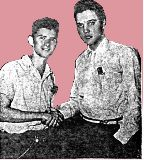 My hobby Elvis Presley!!! Elvis with the US American pop and country singer Johnny Tillotson