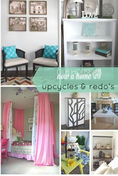 13 furniture transformations! Upcycling, furniture redo, and painting. How to decorate the home with low cost DIY furniture redo ideas. Low cost ways to decorate your home without breaking the bank. Get that dream home and furniture you always wanted!