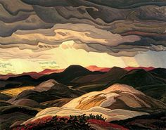 Franklin Carmichael - Snow Clouds, 1938 Franklin Carmichael (May 1890 – October was a Canadian artist. He was the youngest original member of the Group of Seven. Guinness for strength Tom Thomson, Mountain Landscape, Landscape Art, Landscape Paintings, Landscapes, Emily Carr, Maurice Denis, Canadian Painters, Canadian Artists