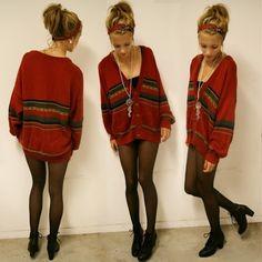 patterned cardigan