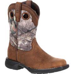 Rocky LT Little Kids' Waterproof Camo Western Boot