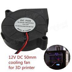 3Pcs Impressora 3D 12V DC 50mm * 50mm Blow ventilador de resfriamento radial