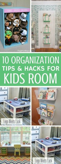 Kids Room Ideas And Storage Solutions For Both Girls And Boys - Cheap and cool ways to make your kids room organized and look great. These DIY Projects are perfect for you if you're looking to organize your home! Organization Ideas For The Home