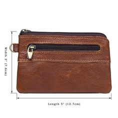 53aa2c915956 Wallets – Brown Leather Coin Wallet Coin Card Holder – a unique product by  Jellybeangorilla on